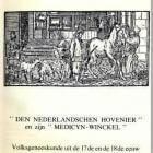 Nederlandschen Hovenier en zijn Medicijnwinckel